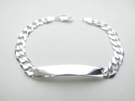Zilveren gourmet plaatband.