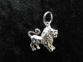 Zilveren leeuw hanger.