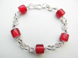 Zilveren lontai ingi boca kralen bracelet.