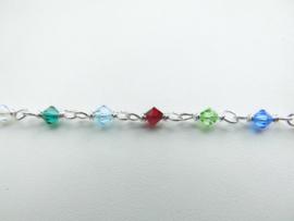 Zilveren allakondre kralen baby bracelet.