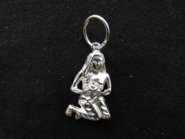 Zilveren sterrenbeeld maagd hanger.