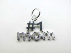Zilveren nr: 1 mom hanger.