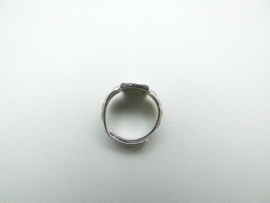 Zilveren baby ring anker 4