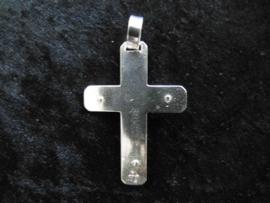 Zilveren kruis hanger.