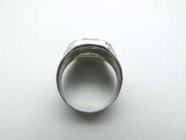 Zilveren wapen ring.