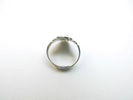 Zilveren kinderen indiaan ring.