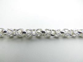 Zilveren keizer ketting. (67 cm)