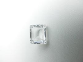 Losse doorzichtige steen (rechthoek)