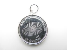 Zilveren Beatrix 10 Gulden munt hanger.