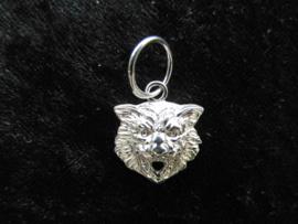 Zilveren leeuwenkop hanger.