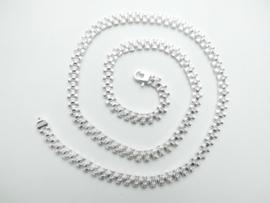 Zilveren roleks ketting 50 cm