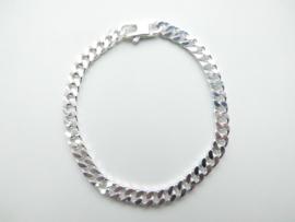 Zilveren gourmet bracelet.