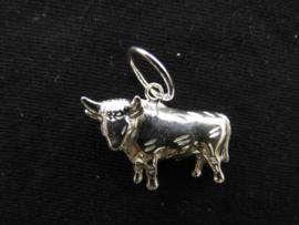 Zilveren sterrenbeeld stier hanger.