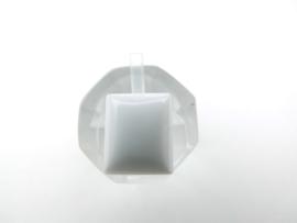 Losse witte steen (rechthoek)