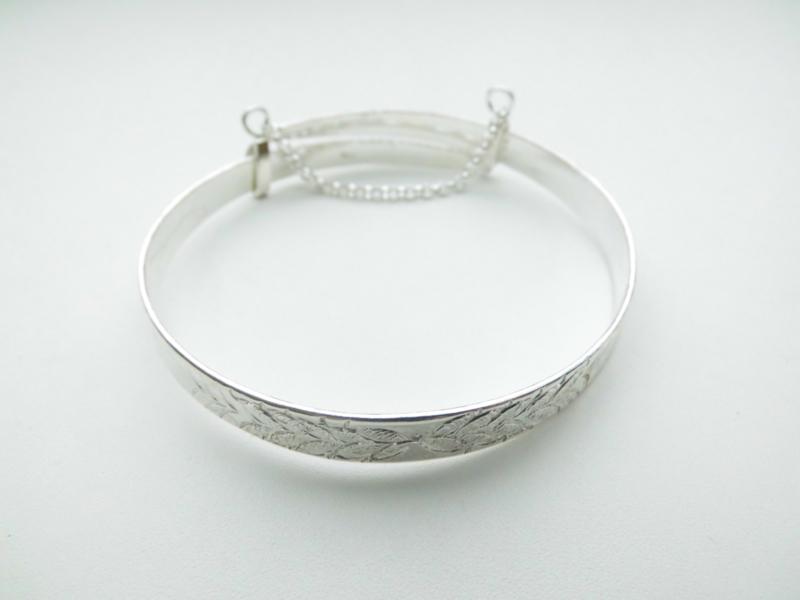 Zilveren javaanse armband.