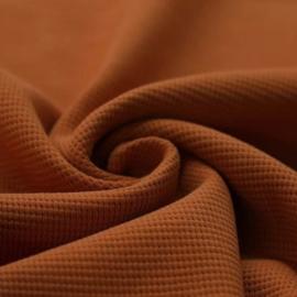 T-Shirt   Wafel Knit Cognac