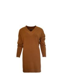 Sweater Dress Vallegio   Cognac