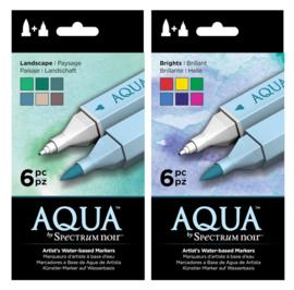 SET 2 - Spectrum Noir Aqua Markers Landscape + Brights