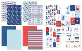 Kit Designpapier + Labelvellen Warm & Cozy