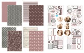 Kit Designpapier + Labelvellen Purrfect Kitties
