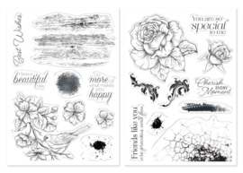 Kit Collage Stempels Cherish + Feathered Friend