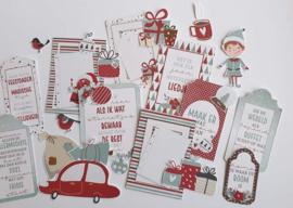 Kit Designpapier + Labelvellen Jingle Bells