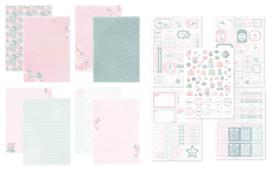 Kit Designpapier + Labelvellen Vintage Tea Party
