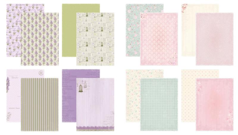 Kit Designpapier Lavender Garden + Prima Ballerina
