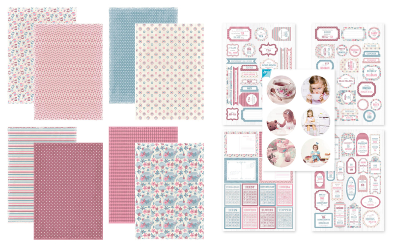 Kit Designpapier + Labelvellen Afternoon Tea