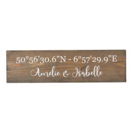 coördinaten bord greywash