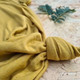 T-shirt dames mustard
