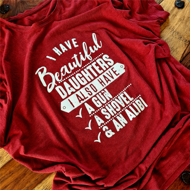 T-shirt Heren I have beautiful daughters