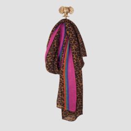 Sjaal Leopard rainbow