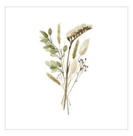 Wenskaart - Field bouquet