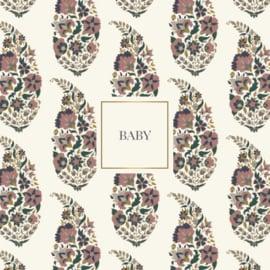 Wenskaart - Paisley 'baby'