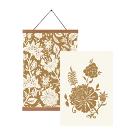 Poster set A3 - Carved Flowery (gold)