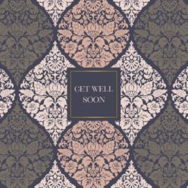 Wenskaart - Baroque 'get well soon'