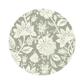 Behangcirkel - Carved flowers