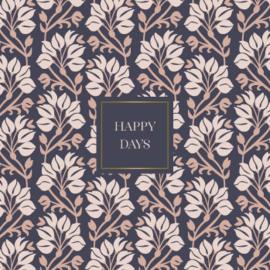 Wenskaart - Swinging flowers 'happy days'