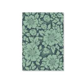 Kaart A6 - Styled Flowers (blue)