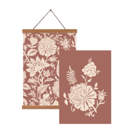 Poster set A3 - Carved Flowery (terra)