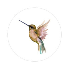 Behangcirkel - Hummingbird gold