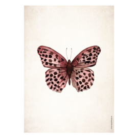 Poster A5 - Butterfly Pink