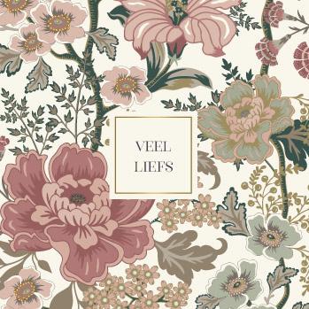 Wenskaart - flowers 'veel liefs'