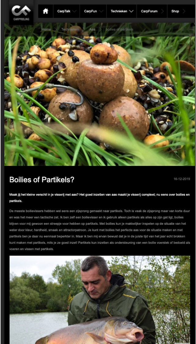 Boilies of Partikels Chris Gabriele