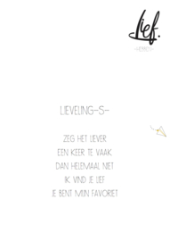 LIEVELING-S-