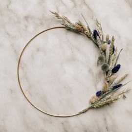 Droogbloem krans - Natural Blue