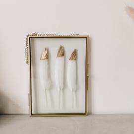 Fotolijst aan ketting Veren Goud - 13x18 cm