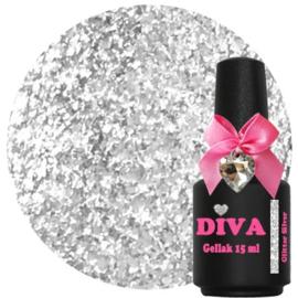 Diva Gellak Glitter Silver 15ml