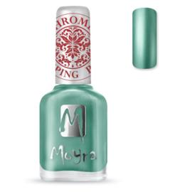 moyra staking nail polish sp27 chrome green